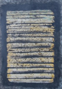 013.  'band heap', acrylic and mixed media on paper, 23x16 ins., 2012