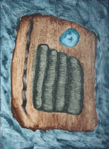 019.  'painter's slice with eye', oil on canvas, 24x20 ins., 2010