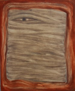 025. 'tunnel vision', oil on board, 24x20ins, 2009
