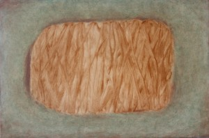 026.  'out to wood', oil on board, 16x24ins, 2009
