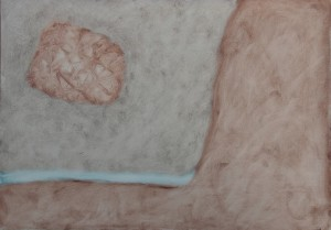 034.  'it's wrapped', oil on paper, 12x16 ins,  2008,003A