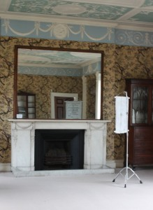 06. 'guarding the holm-garth's home', 66x25x24 ins., 2013 (installation view (b)) ' Pitzhanger Manor