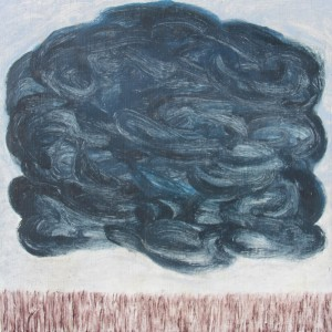067. 'field with its cloud', oil on canvas, 15x15ins, 2006