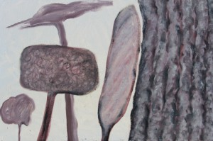 077.  'five trees', oil on canvas, 2005