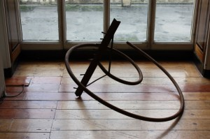 08. 'the rake's regress' (alternative view), iron, 27x46x40 ins.,   at Pitzhanger Manor , 2013