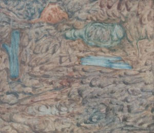 081. 'written ground', oil on canvas, 24x28ins, 2004