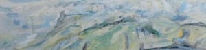 107. 'headland encinctured', oil on canvas on board, 17x62ins, 2000