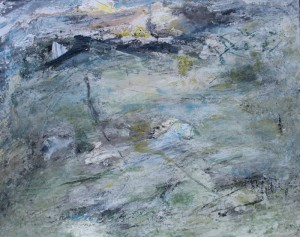 113.  'outcropping', mixed media on canvas, 24x30ins,  2000