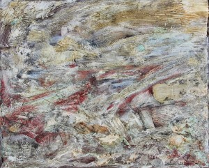122.  'streamish', oil on canvas, 22x24ins,  1997
