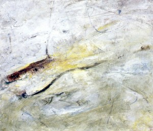 127.  'flowing ground', oil on canvas, 24x28ins, 1996