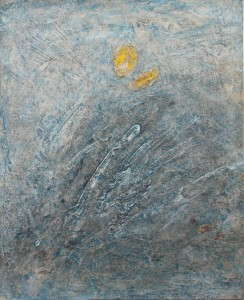141.  'grey-fingered dawn', mixed media on paper, 18x15 ins.,  2001