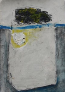 143. 'above-below', mixed media and collage on paper, 12x8 ins., 2000