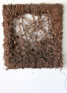 15.  'ramblin'  -  for O. C.', brambles on wood structure, 50x36x11 ins., 2007
