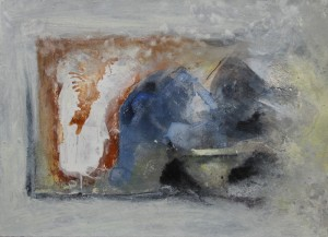 153.  'see through', mixed media on paper, 10x14 ins., 1999