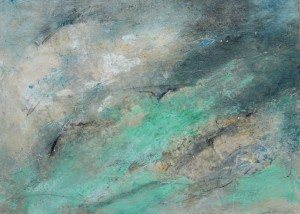 175.  'trapped mists', mixed media on paper, 1997