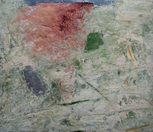 181.  'high horizon', mixed media on paper, 15x18 ins., 1996