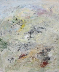 182.  'bright enough', mixed media on paper, 18x15 ins.,  1996