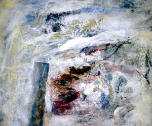 186.  'past the post', mixed media on paper, 14x17ins, 1995,