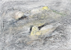 189.  'outcrops', mixed media on paper, 12x16 ins., 1995