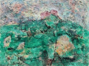 194.  'prominent', mixed media on paper, 12x14 ins., 1994