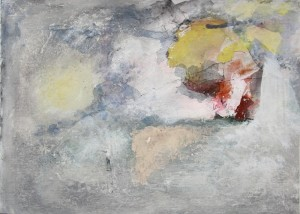 195. untitled, mixed media on paper, 10x14 ins.,  1994