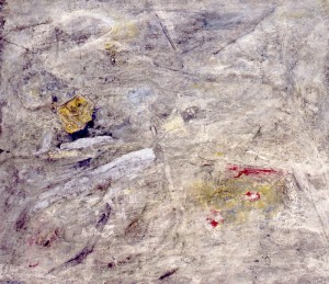 197. 'its surfacing', mixed media on paper, 15x20 ins., 1994 (private collection)