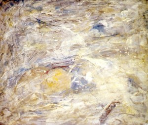 201. 'several weathers', mixed media on paper, 15x18ins, 1993