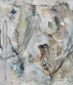211. 'looking up', mixed media on paper,18x15 ins.,  1992