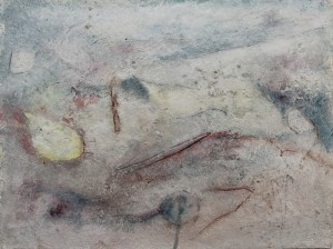 216.  'yes this is the spot', mixed media on paper, 12x16 ins.,   1992