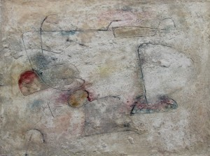 217. 'henge site', mixed media on paper, 12x16 ins.,  1992