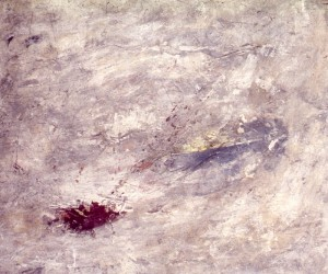 219.  'trapped horizon',mixed media on paper, 21x25ins, 1992
