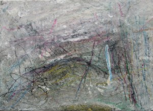 223.  untitled, mixed media on paper, 7x10 ins.,  1991