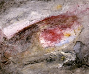 227.  'escarp', mixed media on paper, 14x18 ins.,  1991