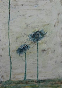 237.  'floral 2', mixed media on paper 12x8 ins., , 1990