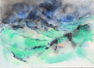 242.  untitled, water colour on paper, 10x14 ins., 1990