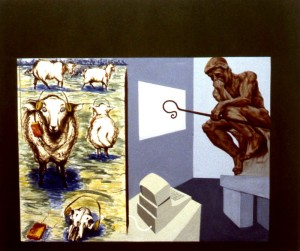 252.  'field painting', oil on canvas, 50x60ins, 1986-7