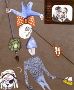 255.  'norm man conk west', oil on canvas, 60x50ins, 1986-7