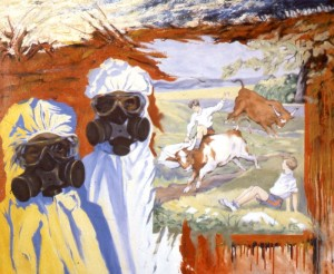 275.  'field sports', oil on canvas, 42x50ins, 1985