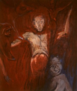 281.  'painter's body', oil on canvas, 52x44ins, 1984