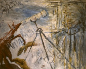282.  'spectacle', oil on canvas, 40x50ins, 1984