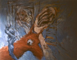 287.  'rough passage', 40x50ins, 1984