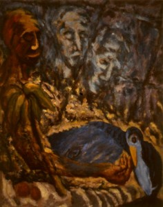288. 'in touch', oil on canvas, 42x34ins, 1984