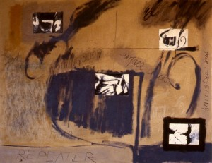 297.  'repeater' acrylic and collage on canvas, 72x60ins, 1984 finalscan033 copy