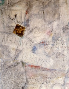 301. 'nothing doing' acrylic on canvas 40x30ins, 1984