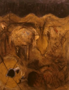 303.  'shards from life',acrylic on canvas 40x30ins, 1984