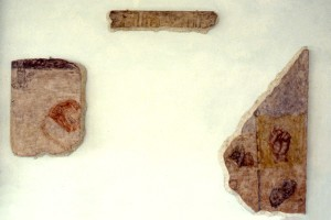 320. 'all that remains', egg tempera on plaster and wood structures, dimensions variable, 1983