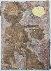 323.  'papa's gotta brand new bag', mixed media and collage on paper, 31x22ins 1982