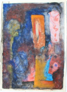 324.  'L for learner', water colour on paper, 31x22ins, 1982