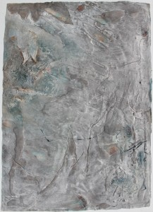 325.  'finally, greys', mixed media on paper, 31x22ins, 1982