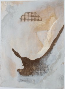 328.  'riff lection', mixed media on paper, 31x22ins, 1982